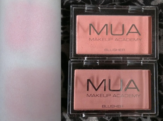 MUA Blusher Shades 1 and 2