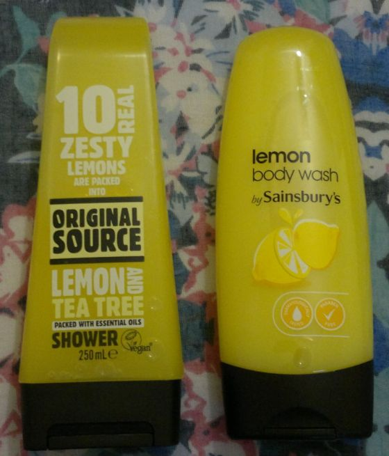 Original Source vs Sainsburys Lemon