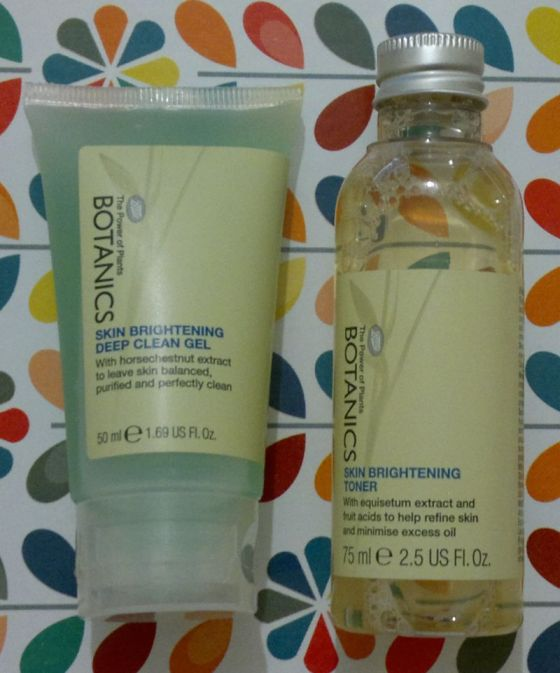 Boots Botanics Face Wash and Toner