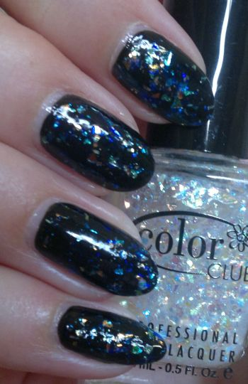 Rimmel Black Satin PLUS Color Club Covered in Diamonds