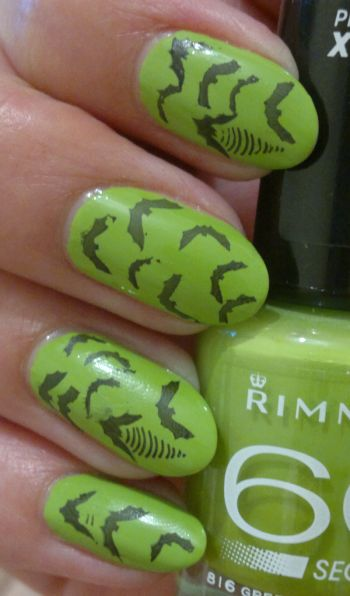 Rimmel Green Eyed Monster bat stamping