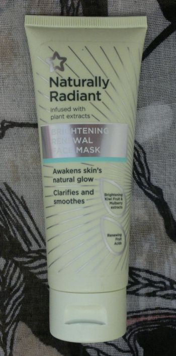Superdrug Naturally Radiant Brightening Renewal Face Mask