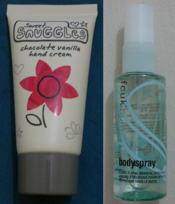FCUK Body Spray & Sweet Snuggles Hand Cream