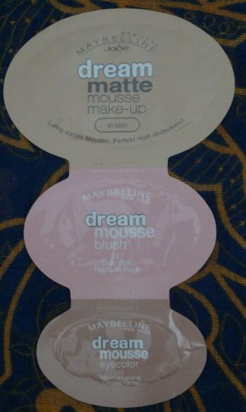 Maybelline Mousse Samples2