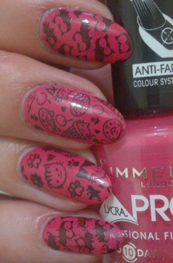 Rimmel Show Off + Kitty Stamps