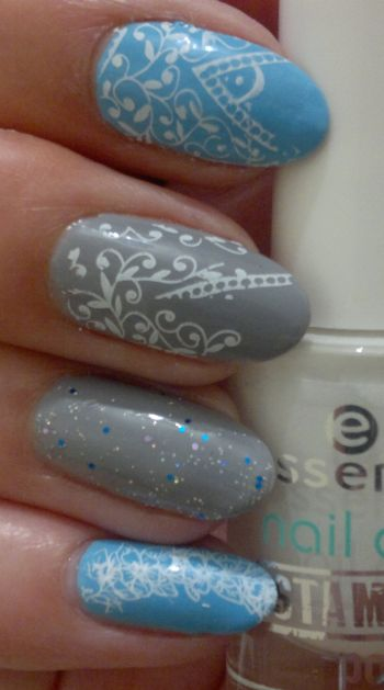 NYC A Perfect Day MUR True Blue Miss Sporty Glitter and Stamping