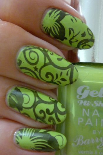 Barry M Gelly Key Lime and Stamping