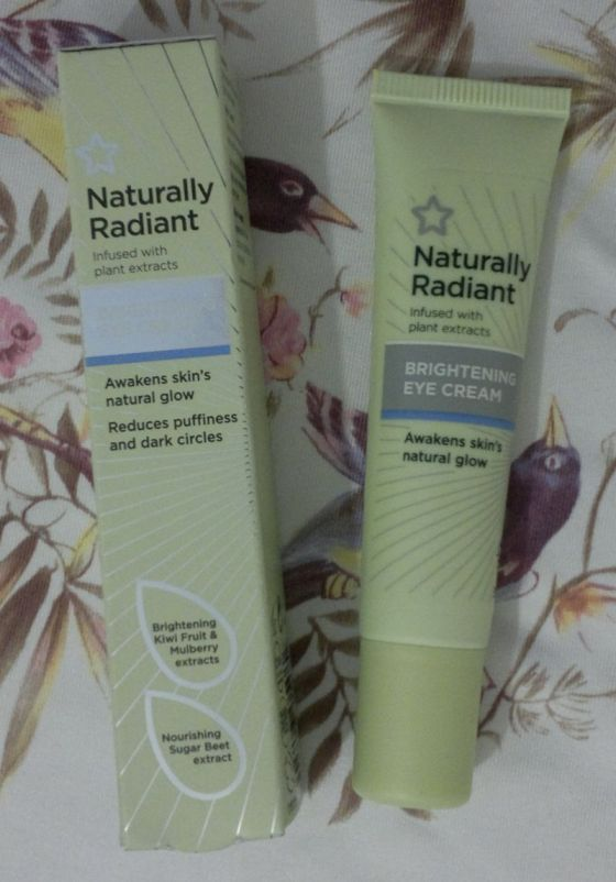 Superdrug Naturally Radiant Eye Cream