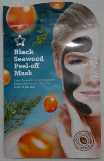 Superdrug Black Seaweed Peel Off Mask