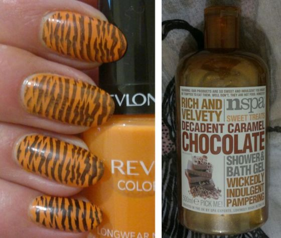 animal-stripe-nails-nspa-chocolate