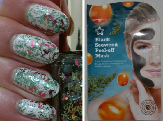 christmas-nails-black-seaweed-mask
