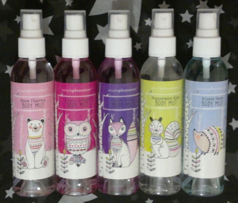Simple pleasures organic shower gel