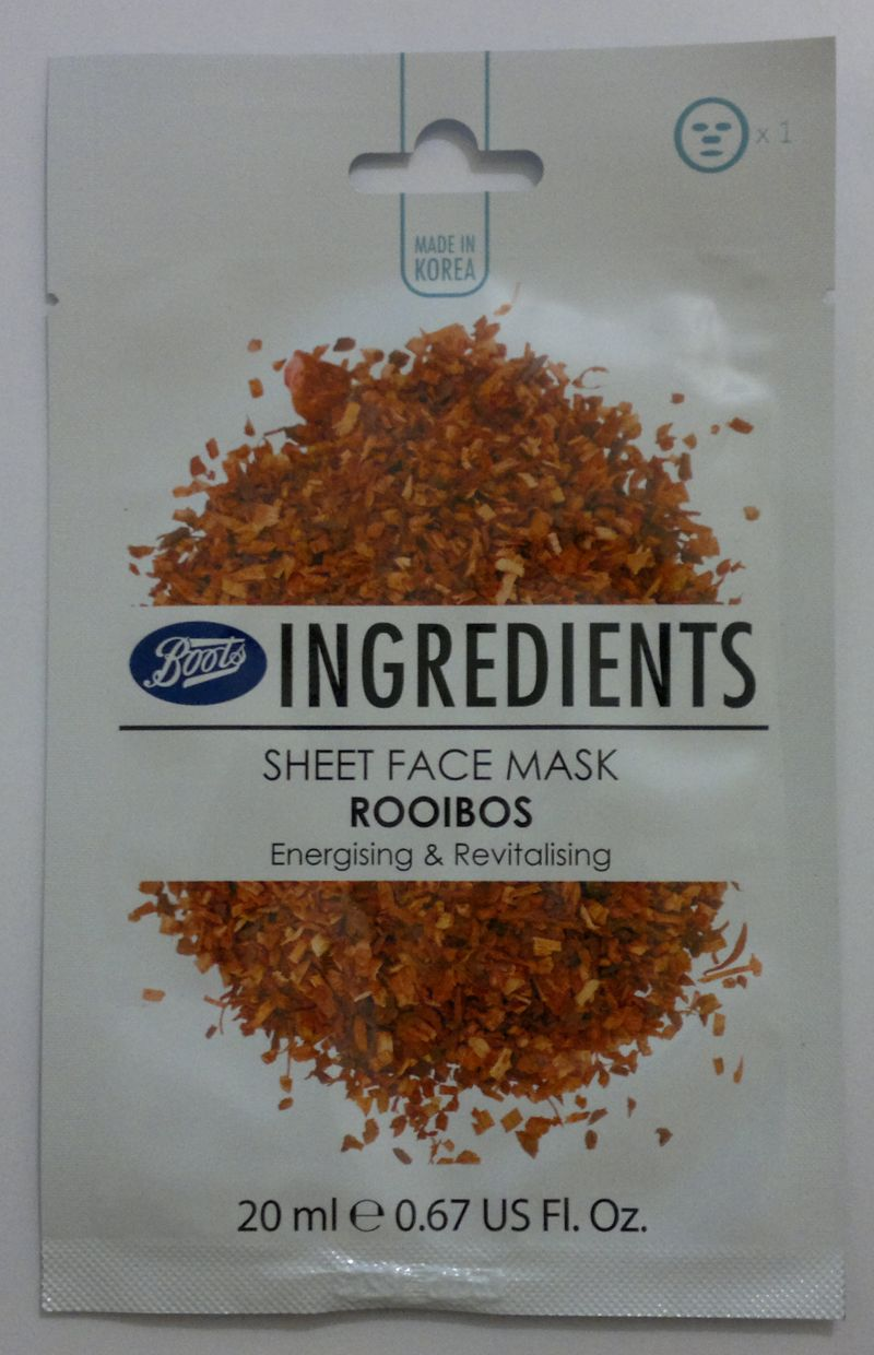 Boots Ingredients Energising & Revitalising Sheet Face Mask